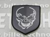 """""""Skull"""" Black Front Nose Badge"""