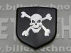 """""""Crossbones"""" Black Front Nose Badge"""