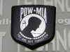 """POW"" Black Front Nose Badge"