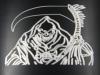 """Reaper"" Black Front Nose Badge (Detail)"