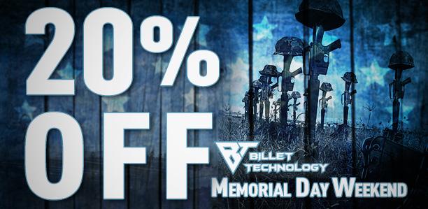 20% Off Memorial Day Sale