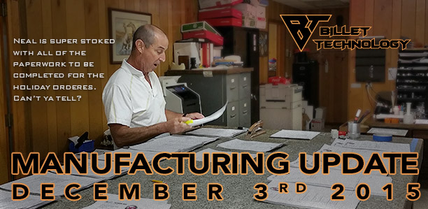 Manufacturing Update December 3rd, 2015