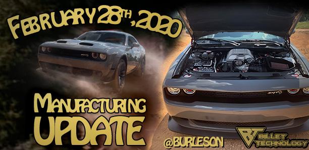 Manufacturing Update February 28, 2020