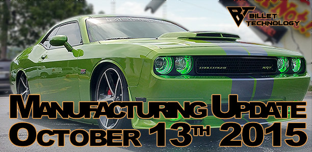 Manufacturing Update October 13th, 2015