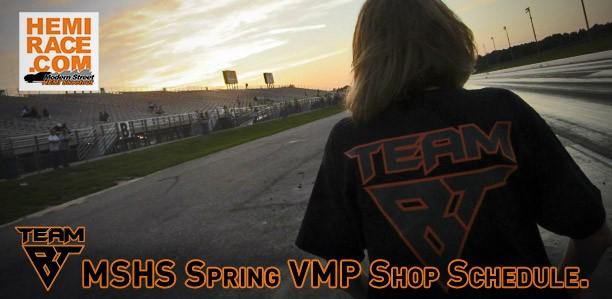 MSHS Spring VMP '15 Shop Schedule
